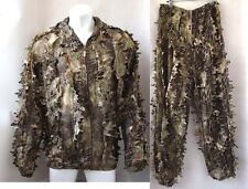 3D Leaf Python Camouflage Jungle Ghillie Suit Bionic Training Bowhunt Sniper
