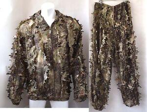 3D Leaf Python Camouflage Jungle Ghillie Suit Bionic Training Bowhunt Sniper