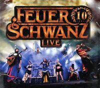 FEUERSCHWANZ - 10 JAHRE FEUERSCHWANZ LIVE  CD NEU