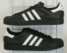 Men's Adidas Superstar Classic Sneakers, New Blk White Sport Walking Shoes Sz 19