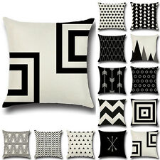 Vintage Geometric Square Cotton Linen Cushion Cover Throw Pillow Case Home Decor