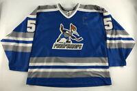 Phoenix Roadrunners #5 Hockey Jersey Blue Size XL MSport Opti Sportswear