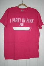 ZUMBA TOP -  PINK T-SHIRT - PARTY IN PINK  - ONE SIZE -  BNWT