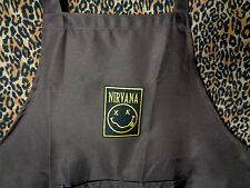 kitchen apron bib bbq nirvana smiley face patch grunge gift chef small/med