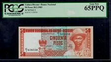 GUINEA BISSAU  50 PESOS 1983 C/1 PICK # 5 PCGS 65 GEM NEW PPQ