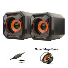 Setero Super Bass Computer Speaker Audio Subwoofer Desktop Volume Control Laptop
