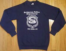 Vintage 80s New Jersey PBA sweatshirt S navy blue police cop crewneck FOTL state