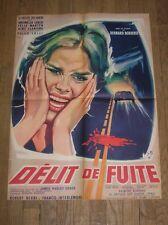 """AFFICHE ORIGINALE FILM """"DELIT DE FUITE"""" / ANTONELLA LUALDI / 60 x 80 CMS"""