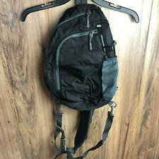 Crossbody Sling Shoulder Bag Nylon Black Gray Starcare New