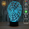 SPIDER MAN AVENGERS MARVEL 3D Acrylic LED 7 Colour Night Light Touch Table Lamp