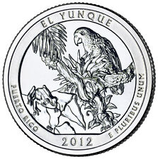 2012 S El Yunque Puerto Rico America the Beautiful BU Quarter from US Mint Roll