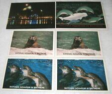 VINTAGE / UNUSED ~ NATIONAL AQUARIUM IN BALTIMORE ~ 2 CARDS & 6 POSTCARDS
