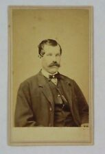 C1866 CDV Photo of Man Patrick H McKernon Saratoga Springs NY Photog