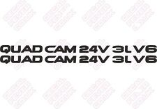 MR2 Toyota Quad Cam 24V 3L V6 DECAL STICKER - 1 Par
