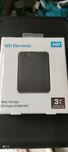 WD 3TB Elements USB 3.0 Portable Hard Drive (BRAND NEW SEALED)