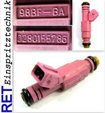 Einspritzdüse BOSCH 0280155786 Ford Fiesta Ka 98BF-BA gereinigt & geprüft