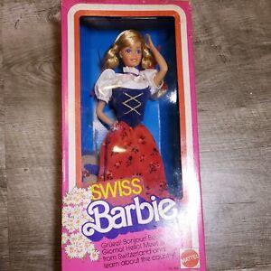1983 Swiss Barbie Doll Vintage Mattel #754 NRFB NEW International Fashion #1646