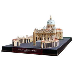 Basilica of Saint Peter, Vatican Craft Paper Model 3D Architectural Build_jg