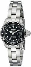 Invicta Women's Pro Diver Quartz 3 Hand Black Dial Watch 17032