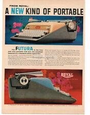 1959 ROYAL Futura Portable Typewriter Vintage Print Ad
