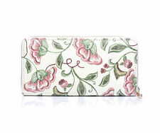 LADIES GIRLS PRETTY CREAM PINK  FLORAL PURSE WALLET GIFT IDEA NEW IN