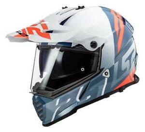 LS2 Helmets Blaze Sprint Adventure Motorcycle Helmet, White/Red/Gray 436B-112