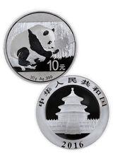15 Coins Lot of 2016 China 30 Gram .999 Silver Panda Coin 10 Yuan Face Value