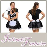 Sexy French Maid Outfit Lingerie Halloween Fancy Dress Size 10 12 14 16 18