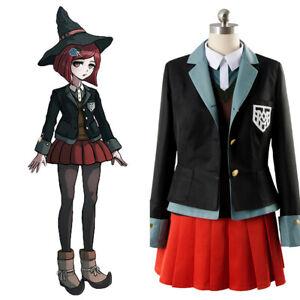 Danganronpa 3 Yumeno Himiko Outfit Dress Cosplay Costume Full set Hat Halloween