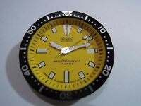 NEW SEIKO REPLACEMENT YELLOW DIAL / HANDS / INSERT FOR SEIKO 7002 DIVER'S WATCH