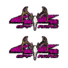 4X4 BUCK OFF ROAD Truck Pink Camouflage Decal Emblem (2 pack) FORD DODGE  a002BU