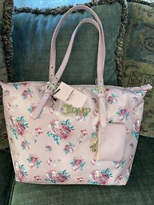 Juicy Couture Vintage Rose Blush Troop Beverly Hills Tote Bag NEW