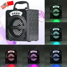 Bluetooth Wireless Portable Outdoor Speaker Super Bass LED USB/TF/AUX/FM Radio