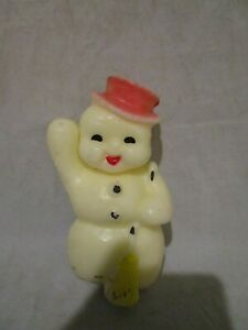Vintage Gurley Christmas Snowman Red Hat Candle