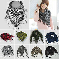 Men's Womens Military Arab Tactical Desert Army Neckerchief  Plaid Winter Scarf