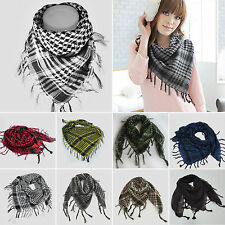 Men Womens Military Arab Tactical Desert Army Shemagh KeffIyeh Scarf Scarves GW