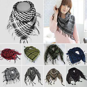 Men Women Military Arab Tactical Desert Army Shemagh KeffIyeh Scarf Wrap Scarves