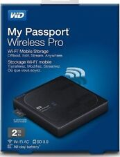 WD 2TB My Passport Wireless Pro Portable External HDD WIFI WDBP2P0020BBK-NESN