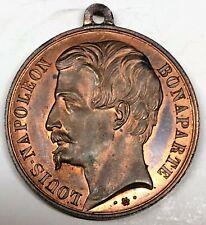 # C9444      FRANCE   BRONZE   MEDAL,     NAPOLEON  BONAPARTE     1848     Au