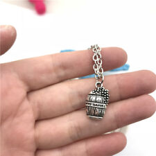 Wine Barrel Necklace Charms Jewelry Tibet silver Pendant Chain Necklace