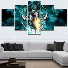 Goku Super Saiyan Dragon Ball 5 panel canvas Wall Art Home Decor Poster Print