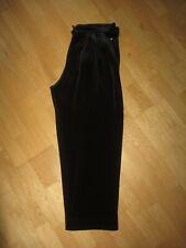 SONIA RYKIEL NWOT SZ L BLACK VALOUR PLEAT - ZIP FRONT LOOSE  LEG LEISURE PANTS