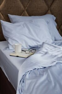 Bamboo Fitted Sheets. 100% Bamboo. Antibacterial, hypoallergenic. Blue. 5 sizes