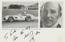Stirling Moss, autograph on photo