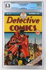 Detective Comics #22 - CGC 5.5 FN- DC 1938 -Conserved- 1st Cvr Crimson Avenger!