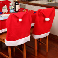 4pcs Housse Couverts de Chaise Fauteuil Nappe Table Noël Décoration Dîner Père