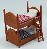 Dollhouse Furniture Bunk Bed 1:12 Calico Critter Sylvanian Figures US Seller