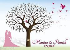 Fingerabdruck Hochzeitsbaum Leinwand Weddingtree  60x40 Motiv13