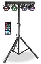 """PARBAR"" Completo led-lichtanlage! con Trípode & ir-fb ! DMX ! 12 x 3 Watt RGBW"