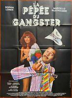 Plakat La Pepee Du Gangster Marcello Mastroianni Sophia Loren 120x160cm
